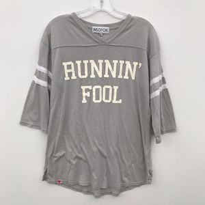 Wildfox Runnin' Fool VNeck Tunic Tee Shirt #2038